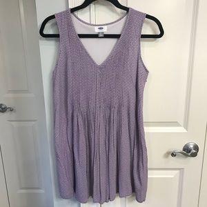 OldNavy purple/white sleeveless dress size S. EUC!